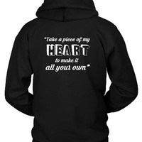 Shawn Mendes Quote Take A Piece Of My Heart Own Hoodie Two Sided