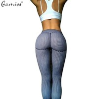 Pull Up Women 3D Effect Polka Dot Elastic Pants Outside Wearing Work out Legging Long Pants