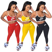 NIKE sexy sports women's fashion casual sling two-piece suit