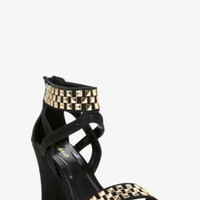 Studded Strappy Wedges (Wide Width)