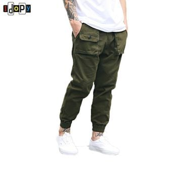 Men Cargo Pants Slim Feet Straight Military Pocket Trousers Cotton Loose Baggy Pants Vintage Joggers Pants For Men