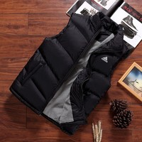 ADIDAS autumn and winter new trend warm vest winter down jacket black