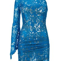 Emilio Pucci Asymmetric Lace Dress - L?Eclaireu