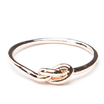 Brandy ♥ Melville    Rose Gold Knot Ring - Rings - Jewelry - Accessories