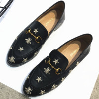 Bee 2018 new star flat leisure lazy shoes