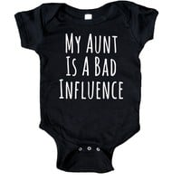 My Aunt Is A Bad Influence Bodysuit Funny Cute Auntie Baby Gift Girl Boy Girl Shower Infant Clothing