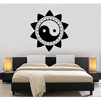 Vinyl Decal Yin Yang Chinese Philosophy Taijitu Taoism Asian Wall Stickers Unique Gift (ig2767)