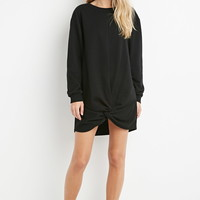 Knotted-Hem Sweatshirt Dress