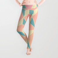 Triangles and Squares XI Leggings by Metron