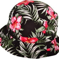 KB Black Floral Bucket Hat