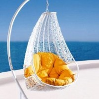 Comfortable Egg-shaped Rattan Outdoor Euro Swing Chair- WP735-W