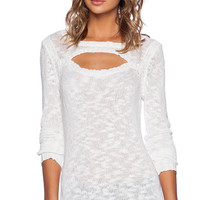 Central Park West Vegas Central Park West Cut Out Sweater in White