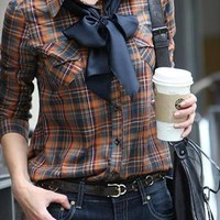Mixed plaid blouse from Moonlightgirl