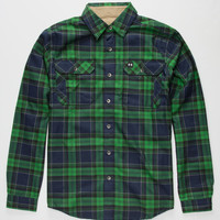 Under Armour Borderland Mens Flannel Shirt Green  In Sizes
