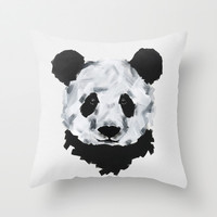 El Panda  Throw Pillow by Luis Patino