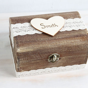 Rustic Wedding Card Box Wedding Card Holder Wooden Keepsake Box Customisable Card Box Memory box Wedding cards Wedding holder, love letters,