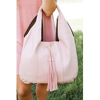 Large Hobo Bag with Tassel Front