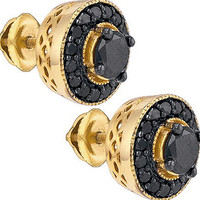Diamond Fashion Earrings in Gold-plated silver 2.05 ctw
