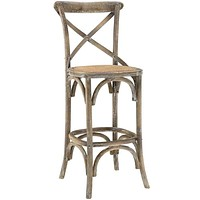 Gray Gear Bar Stool