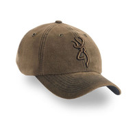 Browning 3D Buckmark Bronze Washed Microsuede Hat