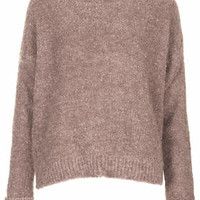 Boucle Sweater - Dusty Pink