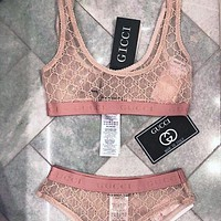 Onewel GUCCI Lace women perspective underwear bikini top Tights two piece vest type