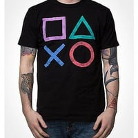 Icons Playstation T shirt - Spencer's
