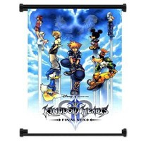 """Kingdom Hearts Game Fabric Wall Scroll Poster (16""""x25"""") Inches"""