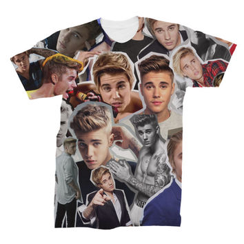 Justin Bieber Photo Collage T-shirt - All Over Printed Sublimation