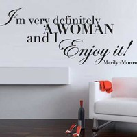 Quote wall decal - Marilyn Monroe Quote - Wall Decals , Home WallArt Decals