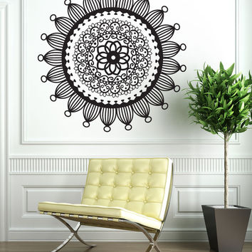 Vinyl Wall Decal Sticker Radial Henna #OS_DC707