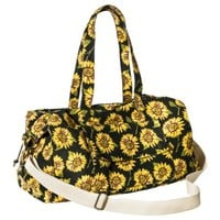 Mossimo Supply Co. Sunflower Weekender Duffle Handbag with Removable Shoulder Strap - Black