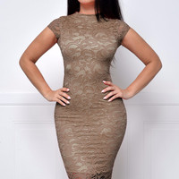 Take Me Anywhere Taupe Dress