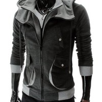 Amazon.com: TheLees Mens Casual Slim Fit Hood Cotton Jacket: Clothing
