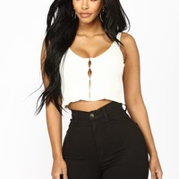 Come Back To Me Crop Top - Ivory