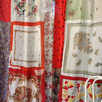 boho Curtains Drapes panels Hippie Hippy room Bohemian Shabby Chic floral scarf Wall Decor Window rose gypsy patchwork Bedroom Hippiewild