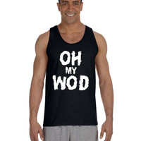 WOD Crossfit Tank - Oh My WOD - Funny Work Out Clothes For The Crossfit Games