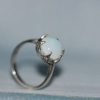 moonstone ring [R260A] : The water for design jewelry