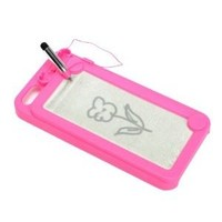 Creative Writing Drawing Doodle Scribble Board Pad Case Cover for iPhone 5 6th Hot Pink