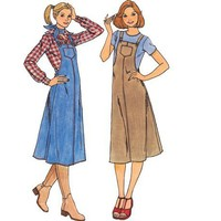 Vintage Sewing Pattern Jumper Dress Overall Western Cowgirl Uncut