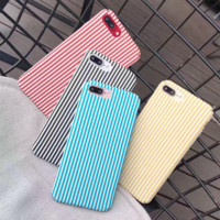 Retro lovely stripe plastic Case Cover for Apple iPhone 7 7Plus 6 Plus 6 -05011