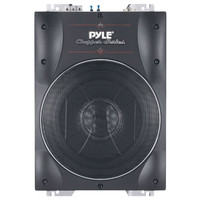 """PYLE PLBASS8 Chopper Series Low-Profile Super-Slim Active Amplified Subwoofer (8"""", 600 Watts)"""