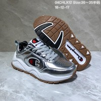 KUYOU C027 Champion x Casbia Awol Atlanta Leather Sneaker Ratro Casual Running Shoes Sliver