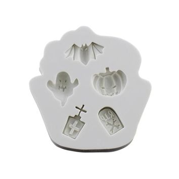 1pcs Silicone Cake Mould Bat Pumpkin Halloween Theme Baking DIY Tools Mold Tray for Fondant Muffin Mousse Chocolate Dessert