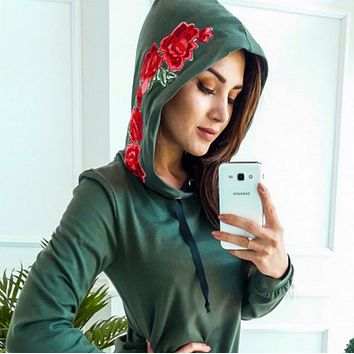 Trending Casual Women Men Embroider Pullover Long Sleeve Sweater G