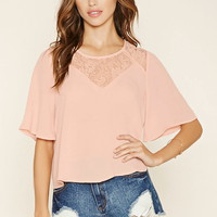 Lace Yoke Top   Forever 21 - 2000122725