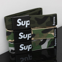 Fashion Casual Supreme Camouflage Print Hip-hop Waistband