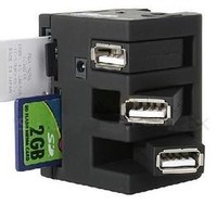 All-in-one Card Reader  USB  2.0 With 3-Port Hub - ACCESSORIES - FeelGift
