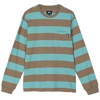 Classic Stripe L/S Shirt in Cocoa