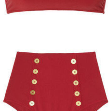 Yves Saint Laurent | High-waisted bandeau bikini | NET-A-PORTER.COM